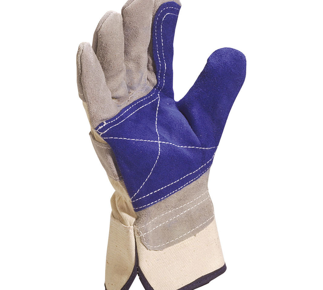 Delta Plus DS202RP Grey & Blue Safety Work Canadian Rigger Gloves