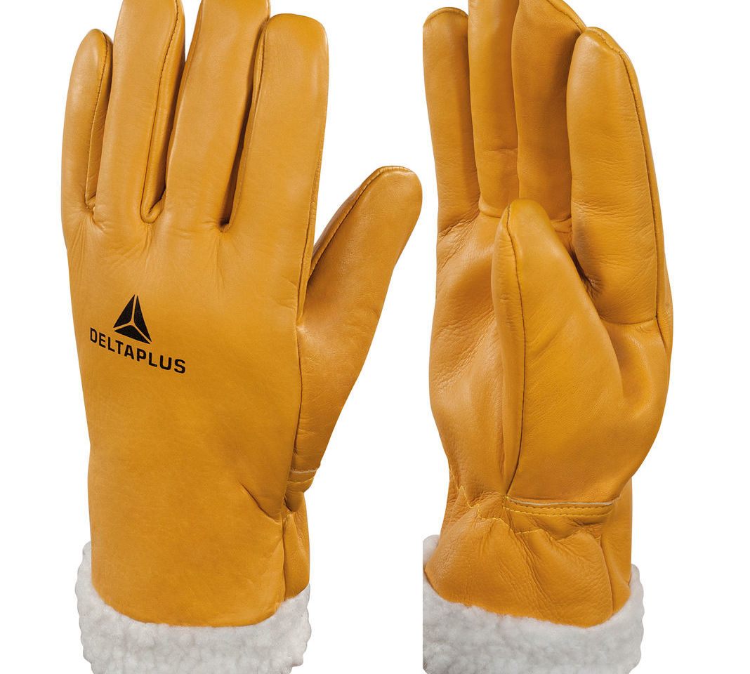 Delta Plus FBF15 Fur Lined Leather Winter Thermal Ski Work Gloves