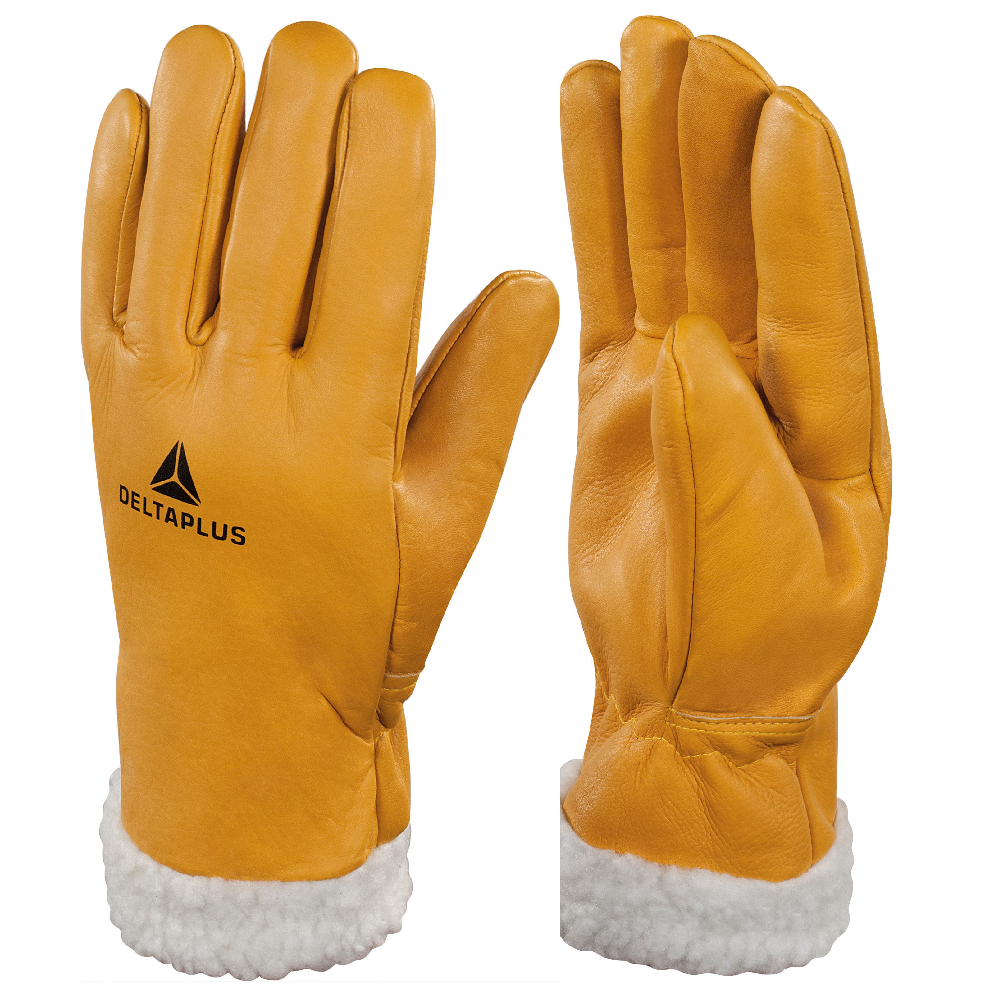 Delta Plus Fur-Lined Leather Thermal Work Gloves