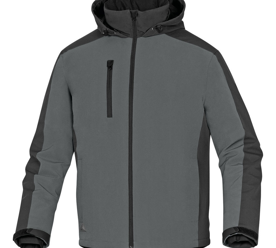 Delta Plus Vigo Grey Water Resistant Windproof Padded Rain Jacket