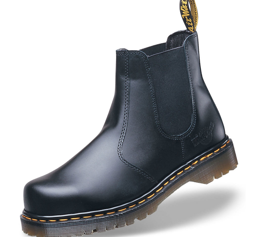 Dr. Martens Icon Black Leather Steel Toe Cap Chelsea Dealer Safety Boots