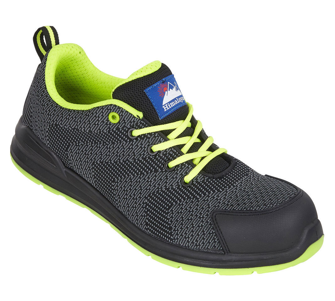 Himalayan #GOWork Flyknit S1P SRC 100% Metal Free Composite Toe Safety Trainers Black