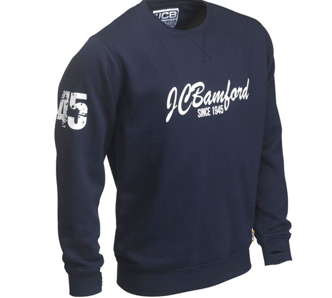 JCB Bamford Ltd Edition Navy Blue Sweatshirt Sweater Jumper Work Top Pullover